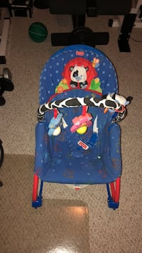 baby's blue and red bouncer Whitby, L1M 2E1