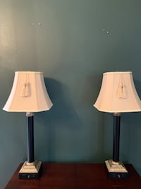 two white and black table lamps Baton Rouge, 70808
