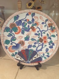 Large Vintage Japanese Plate with gold trimmings Jackson, 39211