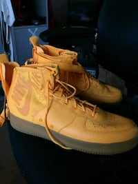 pair of Nike basketball shoes