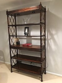 Used Drexel Heritage Solid Wood Etagere Bookcase W Glass