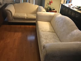 Like new and clean sofa and love seat