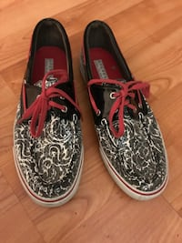 Sperry Top Sider Sequined Paisley Slip On Shoes 8 Hudson, 03051