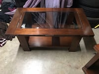 brown wooden framed glass top table Union City, 94587