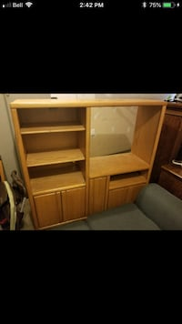 brown wooden TV hutch screenshot Edmonton, T6C 2B8