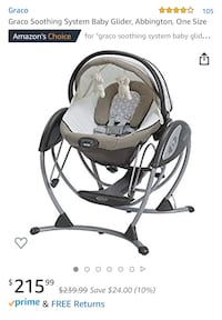 baby's black and white Graco cradle and swing Alexandria, 22304