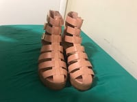 pair of brown leather open-toe gladiator sandals Suitland, 20746