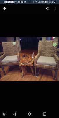 Two chairs excellent condition. Table not included Chattanooga, 37412