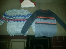 Boys Size 8/10 sweater and long sleeve shirt