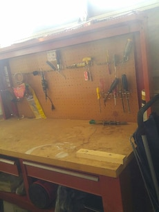 Tool storage, work bench