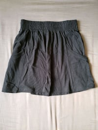 Black cotton mini skirt
