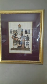 brown wooden framed painting of brown house 3730 km