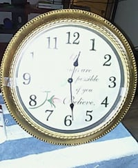 round gold-colored analog wall clock Nashville, 37211