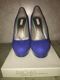 Blue leather platform stilettos Alexandria, 22309