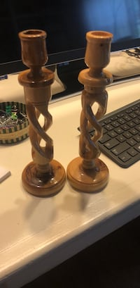 Handmade wooden candle holders from Bethlehem  Vienna, 22180