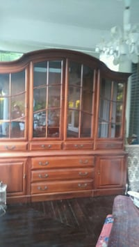 brown wooden china hutch buffet Vancouver, V6K 1C1