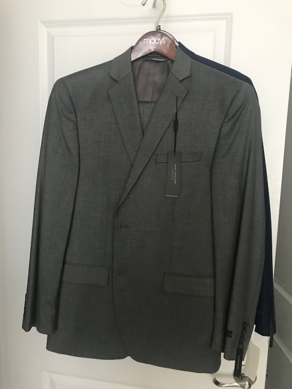 Grey and blue 40R two new suits with tags f9b46aaa-e6e3-4c97-9ca8-0e360d463275