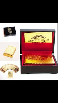 Read Description - 24k gold plated cards Toronto, M1C 2J3