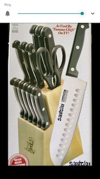 brand new 15 piece cutlery set and wooden block  Leesburg, 20175