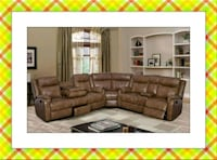 Walnut sectional  Elkridge, 21075