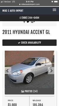 2011 accent high miles 5 speed  Piscataway, 08854