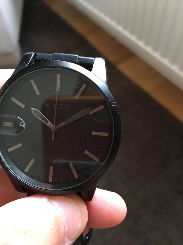 NIXON - The Chronicle Sort/Stål Ø44 mm   6f777d3a-87b2-4966-9a8c-2cae08e896ba