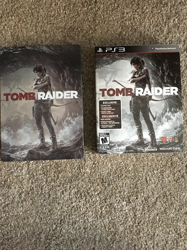 Tomb Raider Sony PS3 case