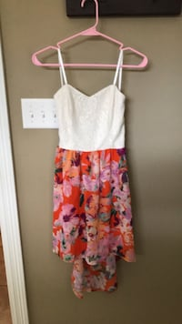women's white and pink floral spaghetti strap dress Ocean Springs, 39564
