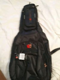 black and red guitar gig bag