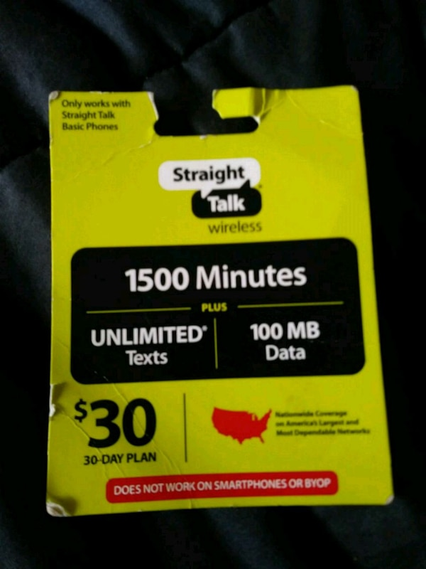 Straight talk refill card