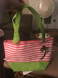 Quacker Factory Small Tote with Glittery Palm Tree Cobb Town, 36201