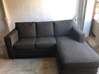 *Good Condition* Dark Gray Couch with Chaise Lounge  Washington, 20018