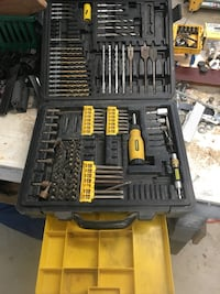 Yellow and gray handheld tool set