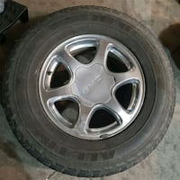 "All Terrain Tires 20% tread w/ 17"" Chrome Rims Edmonton, T5X 6A1"
