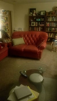 Genuine leather high back red couch set Crofton, 21114