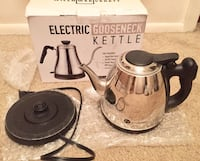 Electric Gooseneck Kettle - Rapid Boil Electric Kettle Water Heater for Pour Over Coffee and Tea - 1L Water Boiler Tea Kettle Teapot Dripper  Indianapolis, 46224