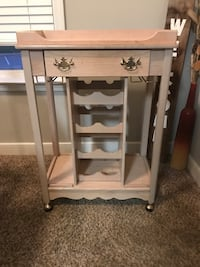Rolling Wine rack with drawer
