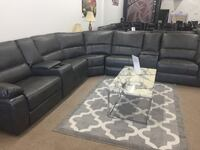 Power reclining sectional with usb connector  601 mi