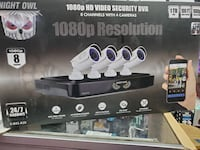 8 CHANNEL SECURITY CAMERA SYSTEM WITH 4 CAMERAS INCLUDED