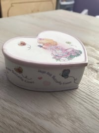 Precious moments trinket box about 4inches
