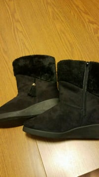pair of black suede boots Marion, 62959