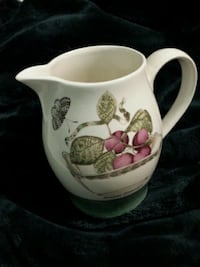 white and green floral ceramic mug 30 km