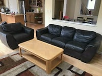 LEATHER COUCH AND CHAIR. DELIVERY IS EXTRA  Edmonton, T6J 6T9