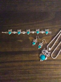 silver and blue beaded necklace Irondale, 35210
