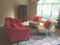 Contemporary Sofa and Chairs RESTON