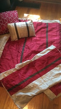 red and white comforter set Utica, 13501
