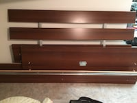 Brown wooden double bed frame St. Albert