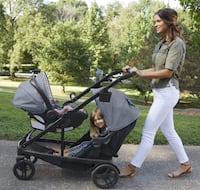 NEW- Graco Travel System- single stroller, double stroller and car seat