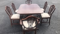 42x62 Solid wood table with six chairs good condition Allentown, 18109