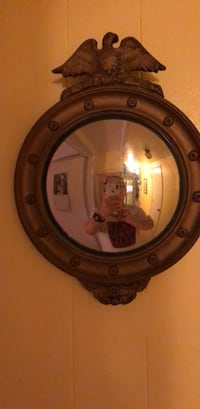 round brown wooden framed mirror New Carrollton, 20784